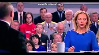Вопрос Путину про Карабах 11.04.2016