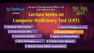 C6 - Basics of Excel - CPT for SSC CGL