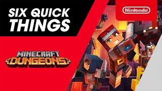 Nintendo Six Quick Things! with Minecraft Dungeons - Nintendo Switch anuncio