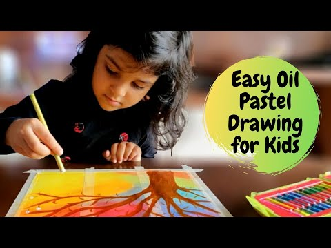 Easy Oil Pastel Drawing for Kids | Oil Pastel Art for Kids | #6