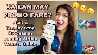 AIRLINE PROMO FARE TIPS + STEP BY STEP PROCESS IN BOOKING AIRLINE TICKETS ONLINE (TAGALOG)