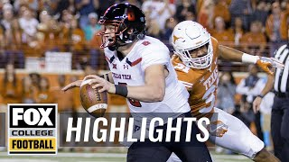 Texas vs Texas Tech | Highlights | FOX COLLEGE FOOTBALL