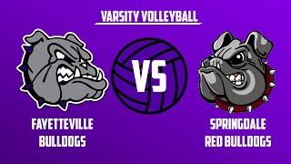 Varsity Volleyball | Springdale vs Fayetteville
