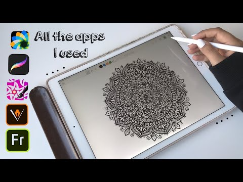 My fav apps to draw mandala and zentangle artworks