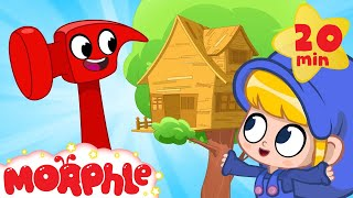 Morphle's treehouse - Building with Mila and Morphle