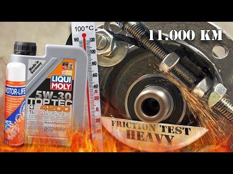 Liqui Moly Top Tec 4200 Longlife III 5W30 + Motor-Life - 11000km Test tarcia 100°C
