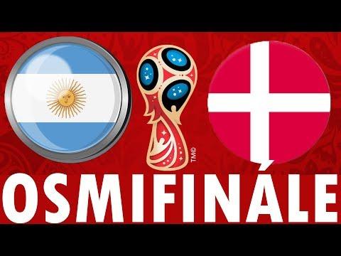 2018 FIFA World Cup Russia | OSMIFINÁLE | ARGENTINA - DÁNSKO |  FIFA 18 | CZ/SK
