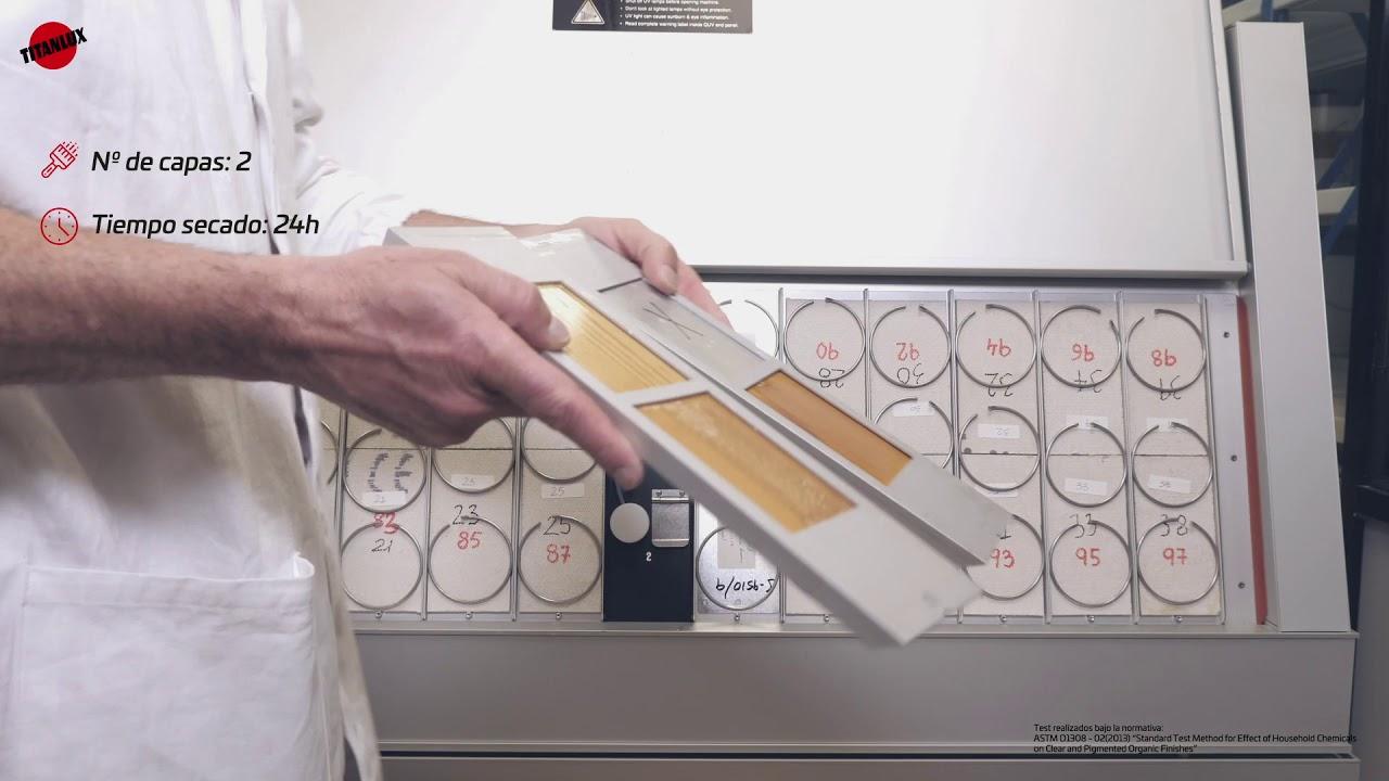 Test de resistencia a la intemperie – BARNIZ AL AGUA ECOLÓGICO INTEMPERIE