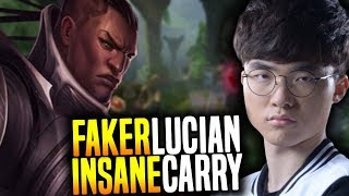 FAKER Lucian is INSANE! He get's CAMPED so hard and he's still a MONSTER! | SKT  Faker Plays Lucian!