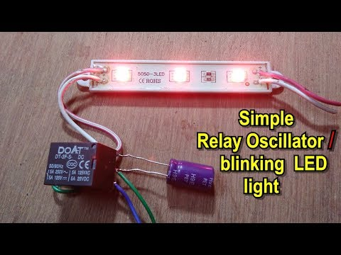 Without IC | How to make simple oscillator/flashing/blinking lights using DC relay
