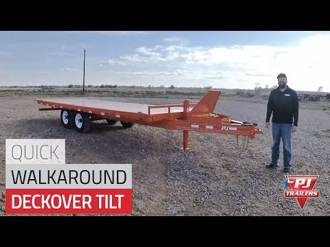 2019 PJ Trailers 22' DECKOVER TILT in Hillsboro, Wisconsin - Video 1