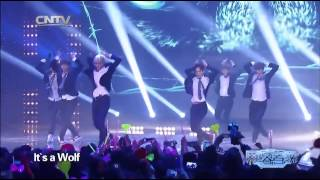 K POP EXO M   Growl + Wolf China LIVE 20140130