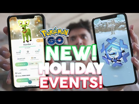 POKÉMON GO MASSIVE HOLIDAY EVENTS! Shiny Stantler, New Gen 5 Pokémon, + More!