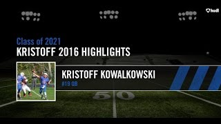 Kristoff Kowalkowski - QB - 13 years old