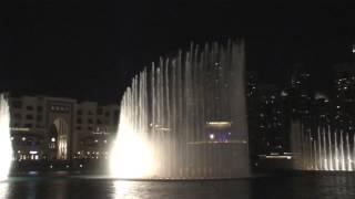 Поющий танцующий фонтан в Дубаи (26.10.2013) 2