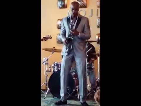 Marlon Boone Performing on L.A. Sax Big Lip Saxophones Jazz and Jokes