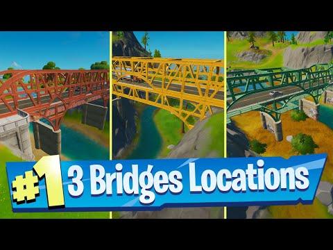 Dance at the Green Steel Bridge, the Yellow Steel Bridge, and the Red Steel Bridge - Fortnite