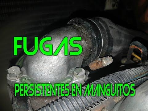 Como quitar una fuga persistente de manguito (manguera) en un motor