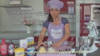 Buttercream, frosting o crema de mantequilla sencilla en KitchenAid. Megasilvita.com