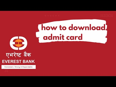 how to download admit card of Everest bank for the post of Junior Assistant