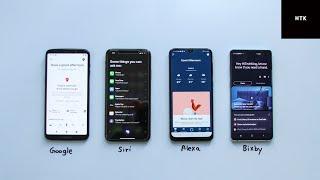 Voice Assistant Battle 2019 (Google Assistant, Siri, Alexa & Bixby)