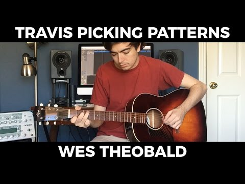 Beginning Fingerstyle Guitar Lesson - Travis Picking Patterns | Wes Theobald