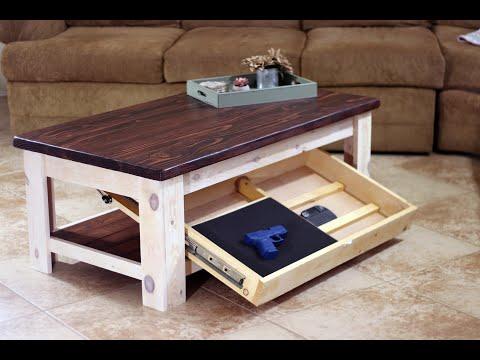 Easy DIY Rustic Concealment Coffee Table / farmhouse