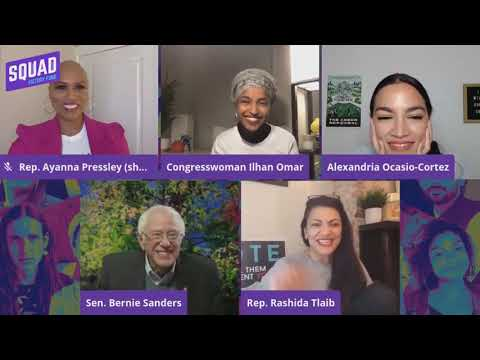 Bernie Sanders Has Wholesome Moment With AOC & The Squad