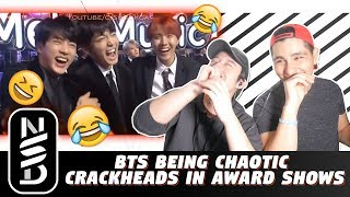 GUYS REACT TO 'BTS Being Chaotic Crackheads in Award Shows'