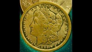 1896 Morgan Dollar (90% Silver- 10 Million Produced With No Mint Mark)