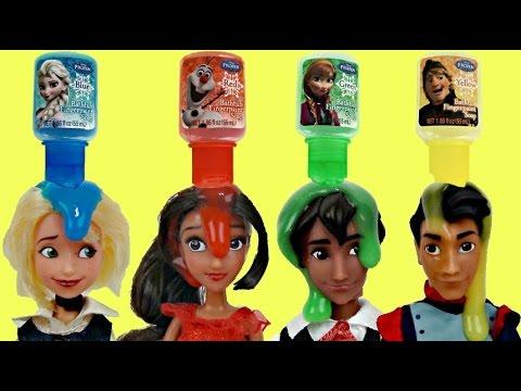 ELENA OF AVALOR Bath Time Fun with Frozen Finger Paint Soap, Learn Colors Bubbles Toy Surprise /TUYC