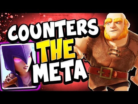 TOP LADDER with BEST GIANT DECK FOR THE META! - CLASH ROYALE
