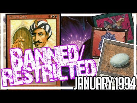 First Banned Cards in MTG History (1994) – Banned and Restricted