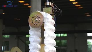Mattress pocket spring coiling machine