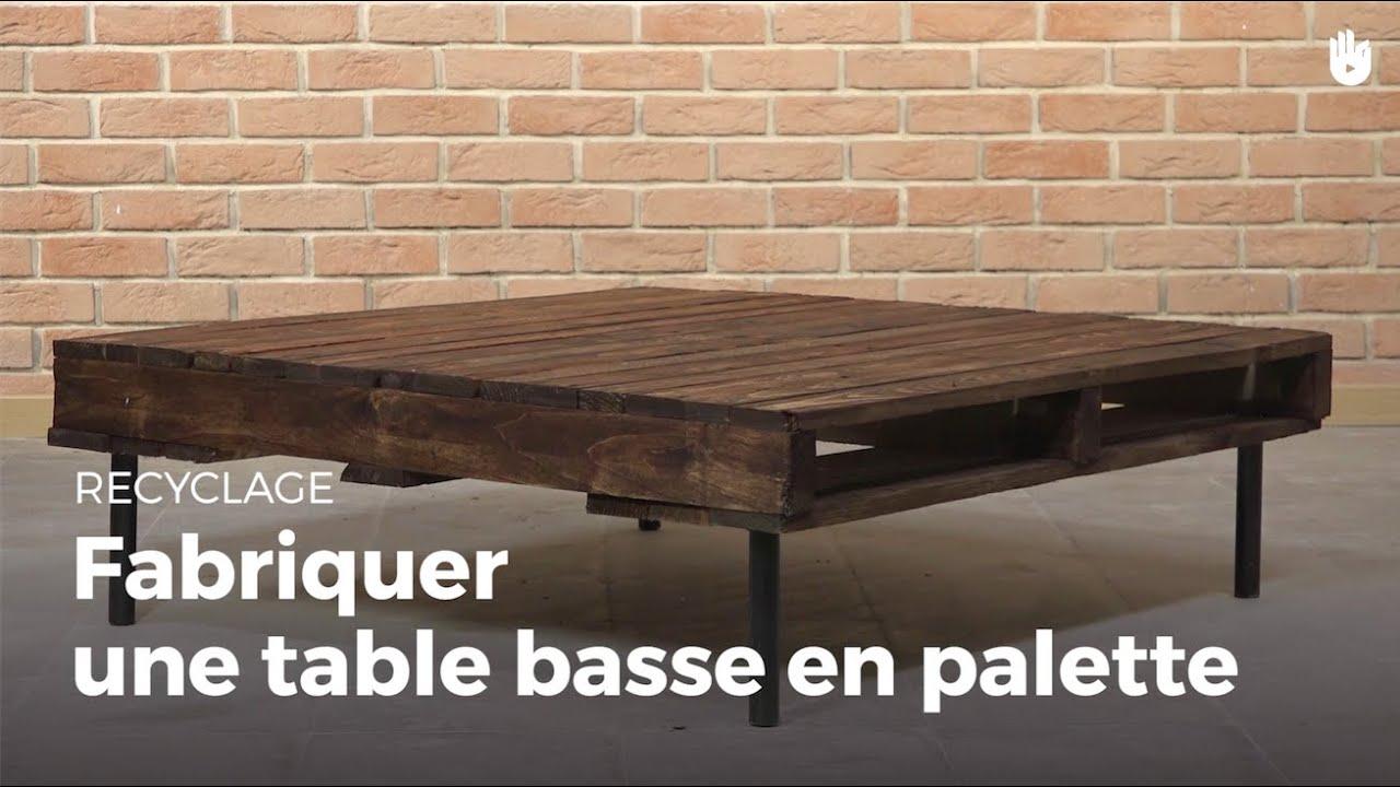 fabriquer une table basse en palette fabriquer des. Black Bedroom Furniture Sets. Home Design Ideas