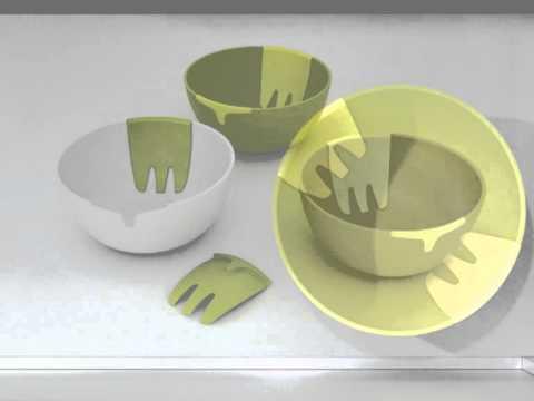 Joseph Joseph - Hands On - Salatschüssel mit Salatbesteck