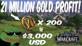 21 MILLION GOLD PROFIT! Resetting Markets to Maximize Your Returns in WoW
