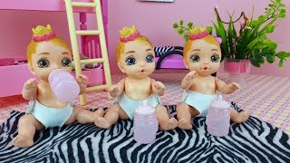Barbie - Mommy for Baby doll princess / Surprise Baby Born dolls - Play dolls