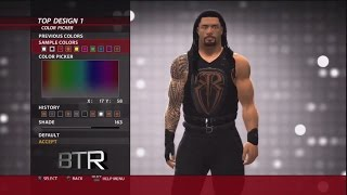 WWE 2K16 Superstar Threads Roman Reigns Clash Of Champions 2016 Attire