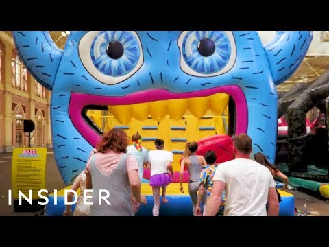 Bouncing Around the World's Biggest Inflatable Park