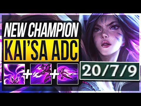 KAI'SA IS ACTUALLY SO BROKEN!! Kai'sa Gameplay ADC New Champion - League of Legends