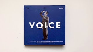 Gambar cover A Rainy Day Unboxing of Onew 온유 1st Mini Album Voice 보이스 (Blue Ver 💙)