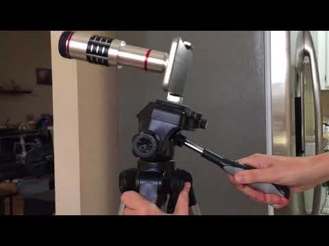 Smartphone 18x Telephoto lens review, tutorial, unboxing