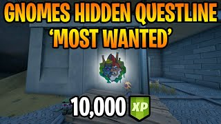 *NEW* 'Most Wanted' Hidden Gnome Questline in Fortnite