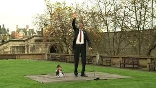 World's tallest man meets world's shortest man
