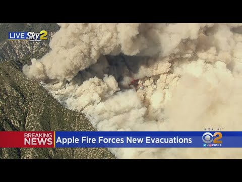 Apple Fire Forces New Evacuations