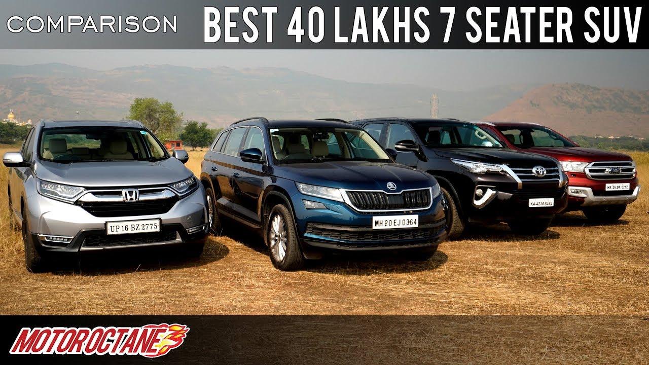 Motoroctane Youtube Video - Toyota Fortuner vs Ford Endeavour vs Skoda Kodiaq vs Honda CRV Comparison   Hindi   MotorOctane