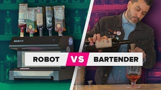 We pit a robot cocktail maker against a real bartender
