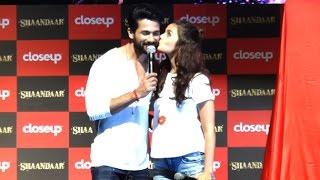 Cute Alia Bhatt KISSES Shahid Kapoor At Shandaar Promotions
