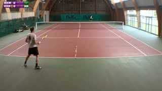 preview picture of video 'Christophe (5/6) vs Damien (3/6) - 2e tour Mesnil St Denis - 1er set - 16/09/2013'